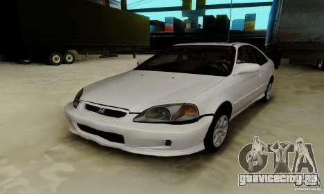 Honda Civic 1999 Si Coupe для GTA San Andreas вид снизу