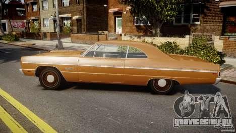 Plymouth Fury III Coupe 1969 для GTA 4 вид слева