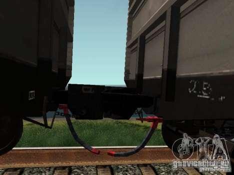 Полувагон ОАО РЖД для GTA San Andreas вид сзади
