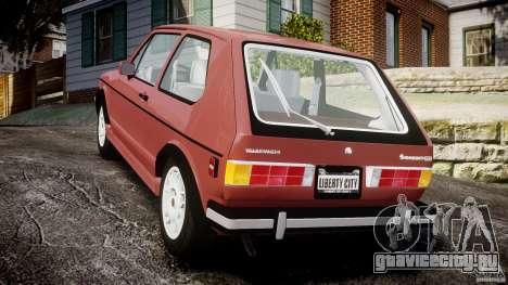 Volkswagen Rabbit 1986 для GTA 4 вид сзади слева
