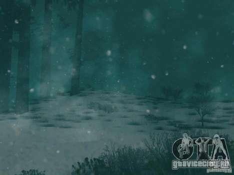 Снегопад для GTA San Andreas третий скриншот