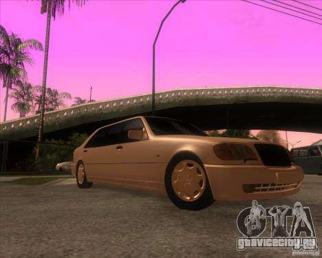 Mercedes-Benz S600 Limo для GTA San Andreas вид сзади
