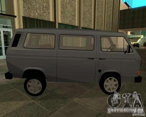 Volkswagen Transporter T3 для GTA San Andreas вид сзади слева