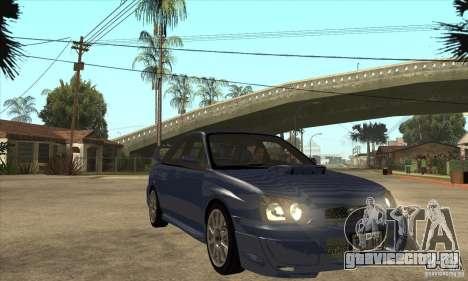 Subaru Impreza WRX STi - Stock для GTA San Andreas вид сзади