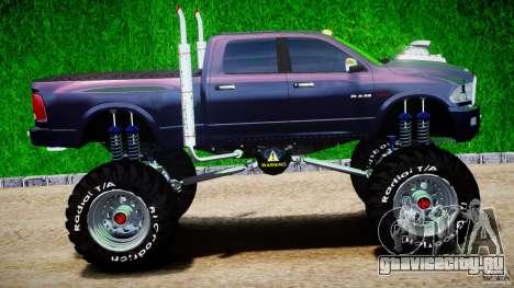 Dodge Ram 3500 2010 Monster Bigfut для GTA 4 вид изнутри