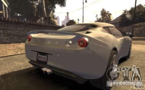 Lotus Evora 2009 для GTA 4 вид слева