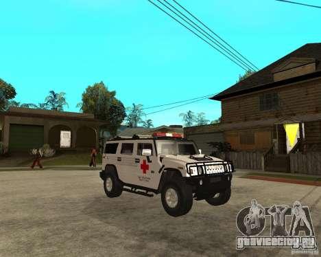 AMG H2 HUMMER - RED CROSS (ambulance) для GTA San Andreas вид справа
