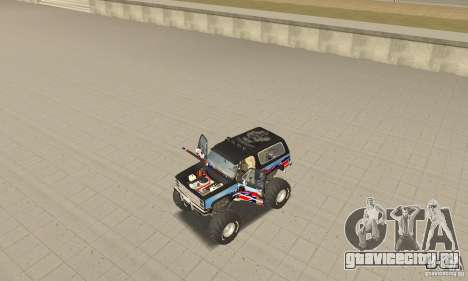Chevrolet Blazer K5 Monster Skin 1 для GTA San Andreas вид сзади