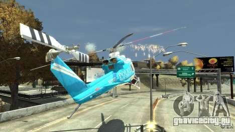NYPD Bell 412 EP для GTA 4 вид снизу