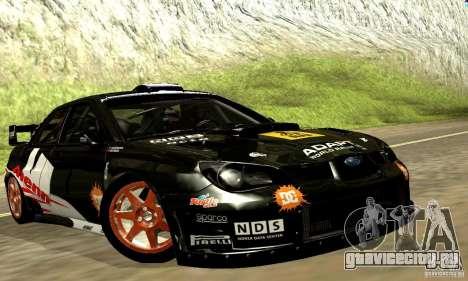 Subaru Impreza WRC 2007 для GTA San Andreas вид изнутри