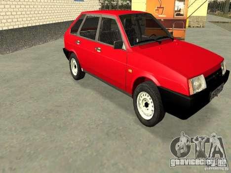 ВАЗ 2109 v2 для GTA San Andreas вид сбоку