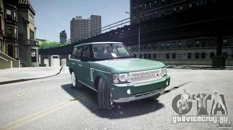 Range Rover Supercharged v1.0 для GTA 4 вид сбоку