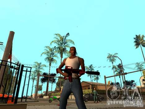 Red Chrome Weapon Pack для GTA San Andreas второй скриншот