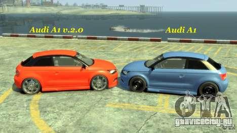 Audi A1 для GTA 4 вид сбоку