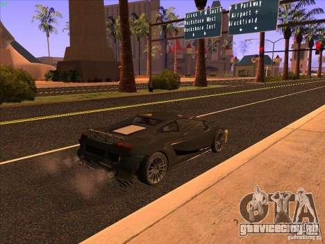 Lamborghini Gallardo Underground Racing для GTA San Andreas вид сзади слева