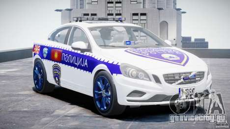 Volvo S60 Macedonian Police [ELS] для GTA 4 вид сзади