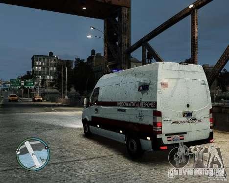 Mercedes Benz Sprinter American Medical Response для GTA 4 вид слева