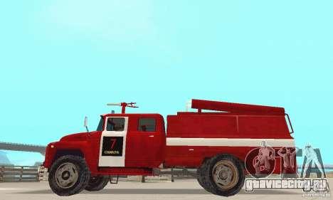 ЗИЛ-130 пожарная для GTA San Andreas вид слева