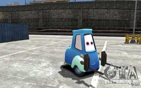 Guido из Cars Mater-National для GTA 4 вид сзади
