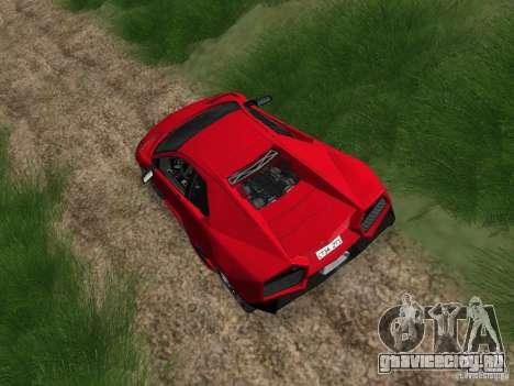 Lamborghini Reventоn для GTA San Andreas вид сзади