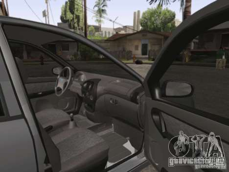 Лада Калина седан для GTA San Andreas вид изнутри