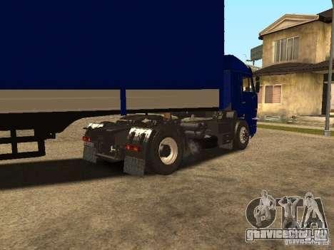 КамАЗ 5460 Дальнобойщики 2 для GTA San Andreas вид сзади слева