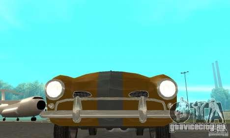 Volkswagen Karmann Ghia для GTA San Andreas вид изнутри