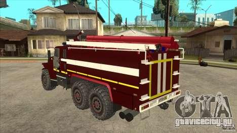 Урал 43206 пожарный для GTA San Andreas вид сзади слева