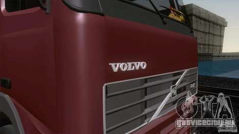 Volvo FH12 для GTA San Andreas вид изнутри