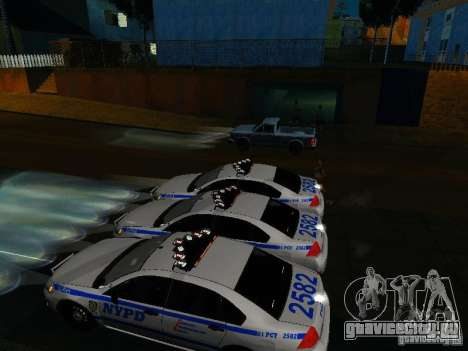 Chevrolet Impala NYPD для GTA San Andreas двигатель