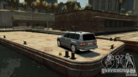 TOYOTA LAND CRUISER 100 для GTA 4 вид слева