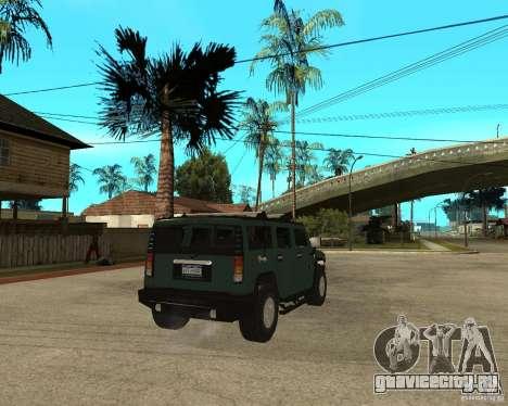 AMG H2 HUMMER SUV для GTA San Andreas вид сзади слева