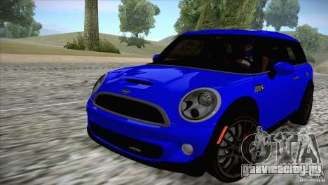 MINI Cooper Clubman JCW 2011 для GTA San Andreas вид сзади слева