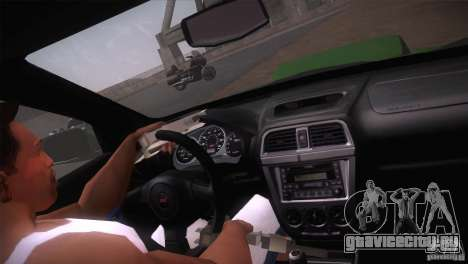 Subaru Impreza WRX STi для GTA San Andreas вид сверху