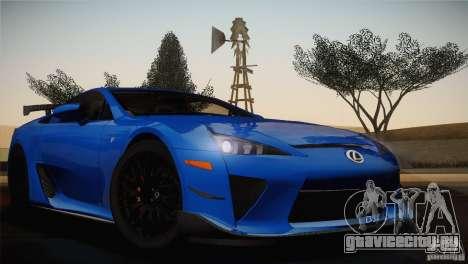 Lexus LFA Nürburgring Performance Package 2011 для GTA San Andreas вид сбоку
