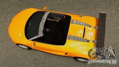Audi R8 Spyder для GTA 4 вид справа