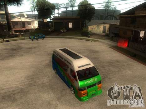 Toyota Commuter VIP Van для GTA San Andreas вид справа