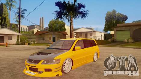 Mitsubishi Lancer Evolution IX Wagon MR Drift Spec для GTA San Andreas