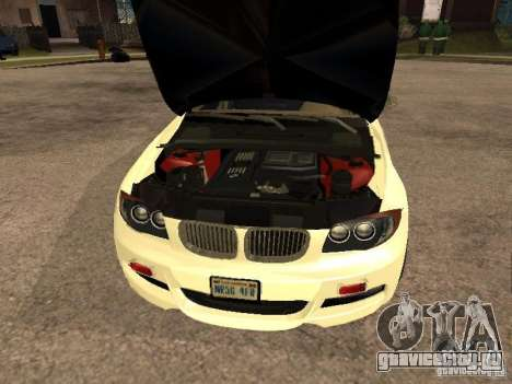 Bmw 135i coupe Police для GTA San Andreas вид справа