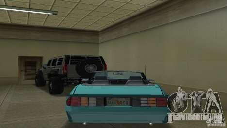 Chevrolet Camaro Convertible 1986 для GTA Vice City вид справа