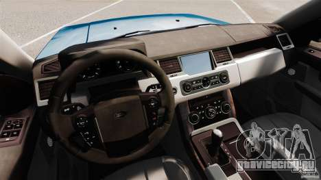 Land Rover Range Rover Sport HSE 2010 для GTA 4 вид сзади