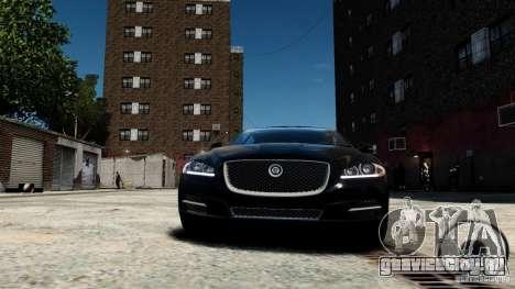 Jaguar XJ 2012 для GTA 4 вид изнутри