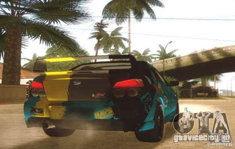 Subaru Impreza WRX STI Futou Battle для GTA San Andreas вид справа