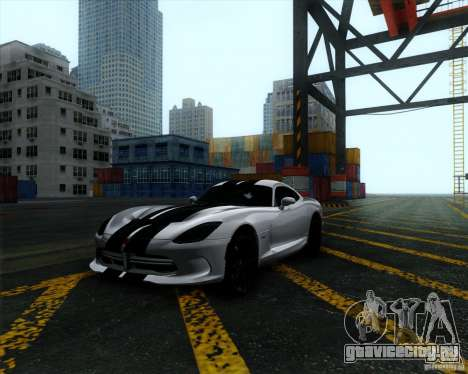 Dodge Viper SRT 2013 для GTA San Andreas вид сзади