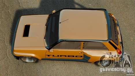 Renault 5 Turbo для GTA 4 вид справа