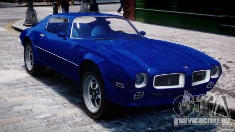 Pontiac Firebird Esprit 1971 для GTA 4 вид сверху