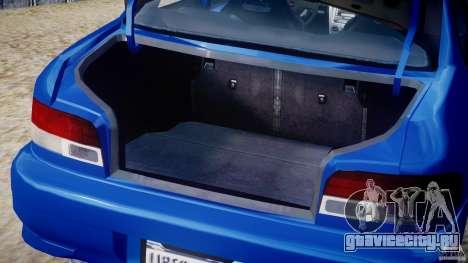 Subaru Impreza WRX STI 1999 v1.0 для GTA 4 вид сбоку