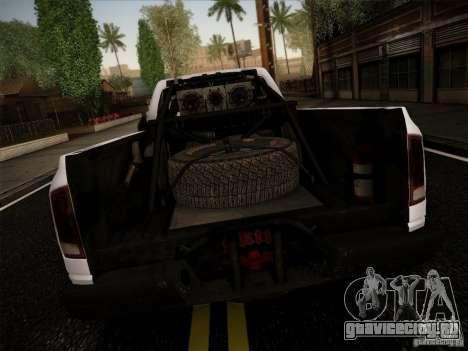 Dodge Ram 1500 4x4 для GTA San Andreas вид сзади слева