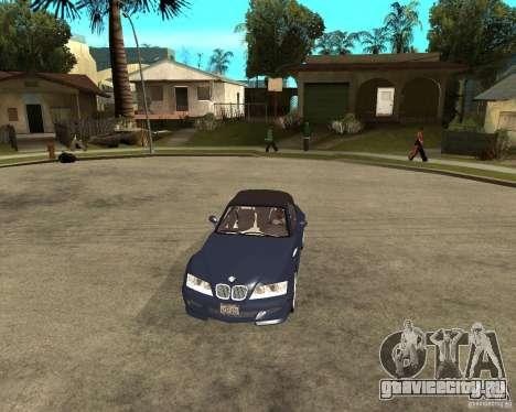 BMW Z3 Roadster для GTA San Andreas вид сзади