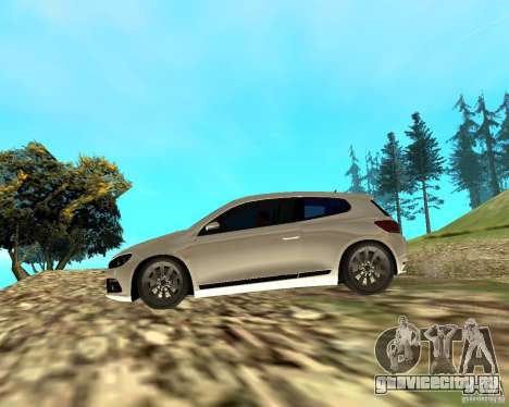 VW Scirocco III Custom Edition для GTA San Andreas вид сзади слева